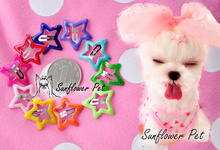 50PC/Lot Lovely Stars 2.5cm Dog Mini BB Hairpin Puppy Hair Clips For Yorkshire Teddy Pet Accessories