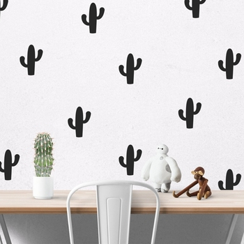 Cartoon Little Cactus Wall Sticker, Removable Cactus Wall Decals Art Decor Free Shipping 20 Cactus Per Lot