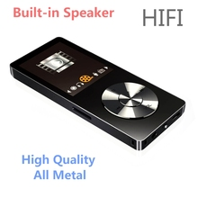 2017 Original HiFi MP3 Player with Speaker Metal High Quality 8GB Lossless Music Player Supports 128GB Memory Card with FM Radio(China)