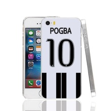 23280 Italy soccer football jersey 10 pogba Cover cell phone Case for iPhone 4 4S 5 5S SE 5C 6 6S 7 Plus