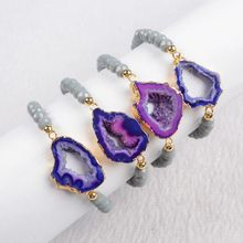 Buy BOROSA 5Pcs/lot 6mm Natural Druzy Stone Bracelet Bangle Fine Jewelry Findings G298 for $25.50 in AliExpress store