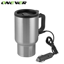 12V 450ML Auto Car Heating Cup In Car Charger Stainless Steel Coffee Tea Water Heater Cigarette Lighter Adapter Style