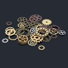 New Arrivcal Mixed Vintage Plated Steampunk Alloy Metal Wheel Gear Charms Pendant Fit Bracelets Necklace DIY Jewelry Making