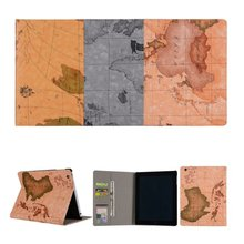 2017 New World Map Case for Apple ipad 2 3 4 Folio Stand Case Cover for ipad 2 for ipad 3 for ipad 4 Case Cover Tablet PC Case
