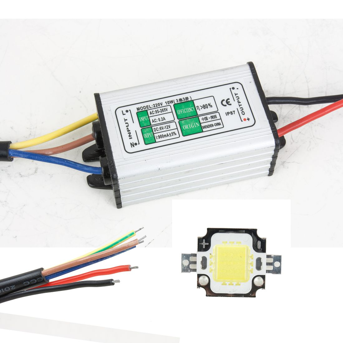 UXCELL Waterproof Led Driver Power Supply + Pure White Led Smd Chip Light<br><br>Aliexpress