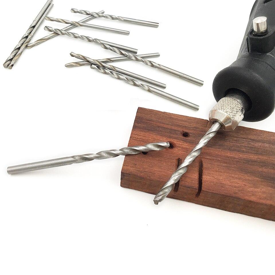 GOXAWEE 10pcs HSS Straight Shank Twist Drill Bits 0.5/0.6/0.7/0.8/1.0/1.2/1.5/1.8/2.0/2.5/3mm Electrical Drill Tool
