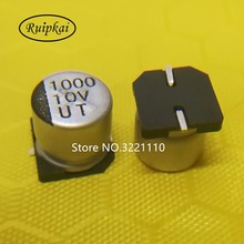 Buy 20pcs 1000UF 10V 10*10.2mm SMD Chip aluminum electrolytic capacitor Life time 105 temperature 2000hrs UT series 10V1000UF 10x10 for $3.25 in AliExpress store