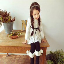 Autumn Spring girls' dress Quality princess dress up Korean girls lace dresses Birthday Party Weddings dress clothes for girls