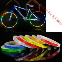 Reflective Stickers Motorcycle Bicycle Reflector Bike Cycling Security Wheel Rim Decal Tape Safer Durable Not Fade Bike Light B2