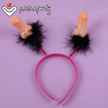 Sex products 30% off for 2pcs Willy headband Penis birthday fun hens night Bachelorette event party supplies hair accessories