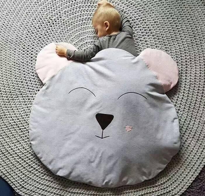 cute bear Newborn Baby Blanket Cotton  Bedding Cartoon Kids winter quilt Sofa Floor Playing Carpet Mats with a pillow<br><br>Aliexpress