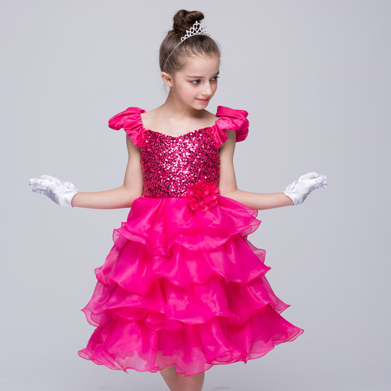 New Fashion Childrens Evening Dress Girl Princess Evening Dress Sleeveless Dress 3 4 5 67 8 9 10 11 12 Years 1<br><br>Aliexpress