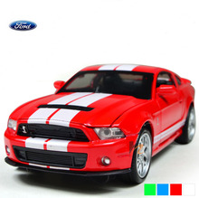 New 1:32 Alloy Toy Car Models Ford Mustang GT500 Coupe Kids Baby Toys Car for Children Gifts Collection Free Shipping