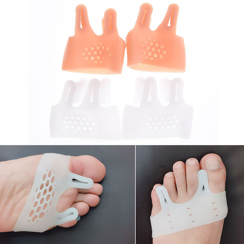 1pair=2pcs Hallux valgus Orthotics,Silicone Toes Separator The big Toe Bunion Corrector,Foot Daily Use Care Tool Orthopedic pad