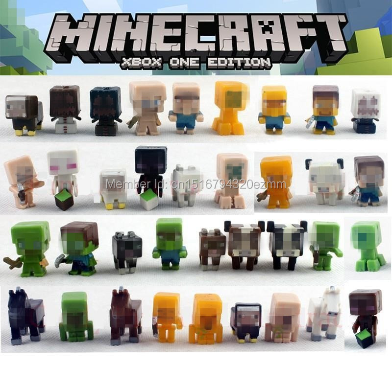 36pcs/1lot minecraft steve cow 2-3cm jouet brinquedo toys action figure toy  minifigure christmas gift to kids<br><br>Aliexpress