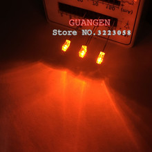 100pcs/LOT White hair orange super high brightness 2x3x4 square 2*3*4 mechanical keyboard backlight LED light emitting diode(China)