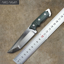 MARS MADAM High-end D2 Survival Knives Fixed Blade Tactical Knife Sharp Three Edge Hunting Knife Exquisite gift