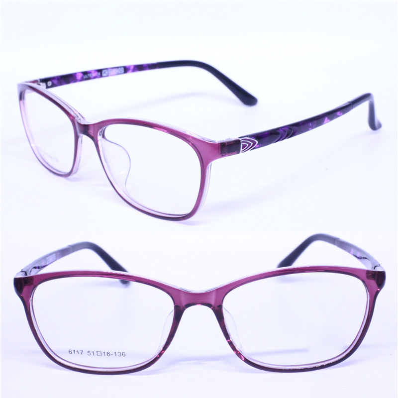 classic 6117 butterfly shape fullrim with metal decoration tip ultra lightweight ULTEM personality prescription glasses for lady