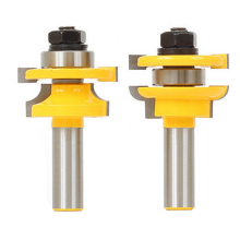 2pcs 1/2 Inch Cemented Carbide Shank Trim Router Edge Router Bit Mortise Cutter for Woodworking