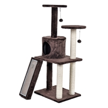 Fast Delivery Luxury Cat Tree House Pet Cat Scratch Board Scratching Toy Ball Sisal Scratch Post Cat Scratching Post KittenTower(China)
