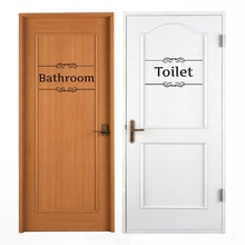 1 Pc Removable Fun Vintage Door Stickers Bathroom Decor Toilet Door Sign Vinyl  Decals