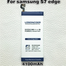 LOSONCOER 4100mAh EB-BG935ABE Battery Replacement For Samsung Galaxy S7 Edge Battery G935F G9350 G935(China)