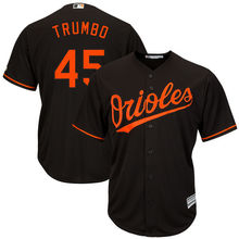MLB Men's Baltimore Orioles Mark Trumbo Baseball Alternate Black Official Cool Base Replica Player Jersey(China)