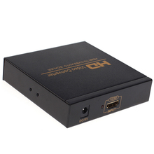 Free shipping HDMI to CVBS Video Converter support TV VHS VCR  DVD recorders  etc. Support NTSC and PAL two TV format