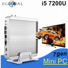 2017 Eglobal Fanless Nuc Pc i5 7200U Kaby Lake Mini PC Windows 10 Max 3.1GHz Intel HD Graphics 620 Micro PC 4K HTPC Linux Kodi(China)