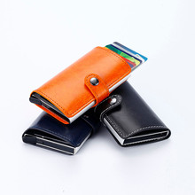 Buy Leather Card Holder Unisex Wallets High Female Credit Card Holders Women Business Card Pillow Organizer Purse for $4.64 in AliExpress store