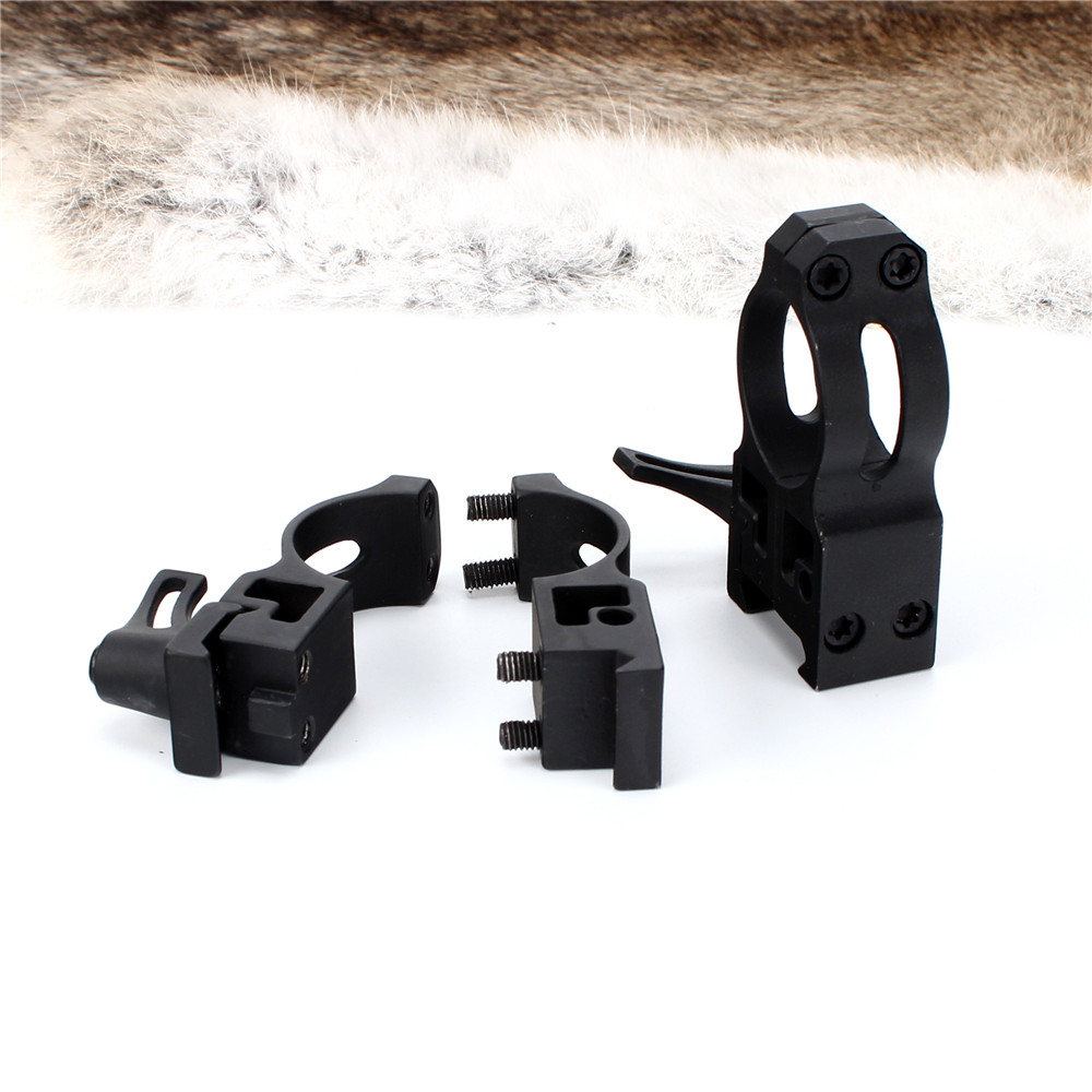 ohhunt 25.4mm 1 inch 2PCs High Profile Cast Steel Quick Release Picatinny Weaver Scope Mounts Rings Tactical Hunting Accessories (6)