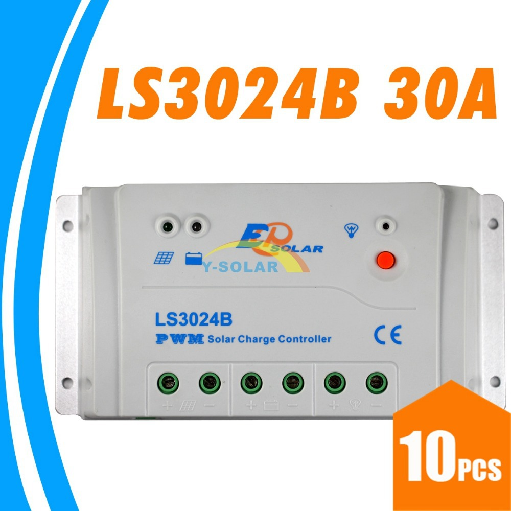 EPsolar 30A Solar Charge Controller 12V 24V Auto Switch LS3024B With Max Input 50V Solar Panel  Regulador HIgh Quality Charger<br>