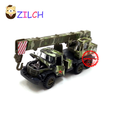 1:43 High imitation ETI Russian military rescue crane alloy car model in original box pull back muical flashing toy for children