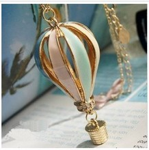 Min. order $9(mix order) Colorful Enamel Hot Balloon Design Long Necklace