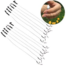 6Pcs Barbless Size 6 8 10 Carp Fishing Hook Tackle Hair Rigs Fishing Accessories Tackles