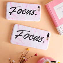 Fashion focus marble pattern Victoria Stripes Pink Red Phone Cases For iPhone 6s 6 Plus Girl For iphone 7 7plus focus popular