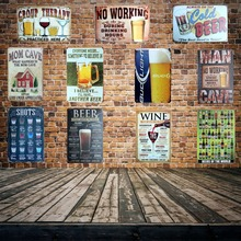 [ Mike86 ] Beer Pratice Here Metal Sign PUB HomeHotel Decoration Vintage Painting Wall Poster Art 20*30 CM Mix Items AA-455