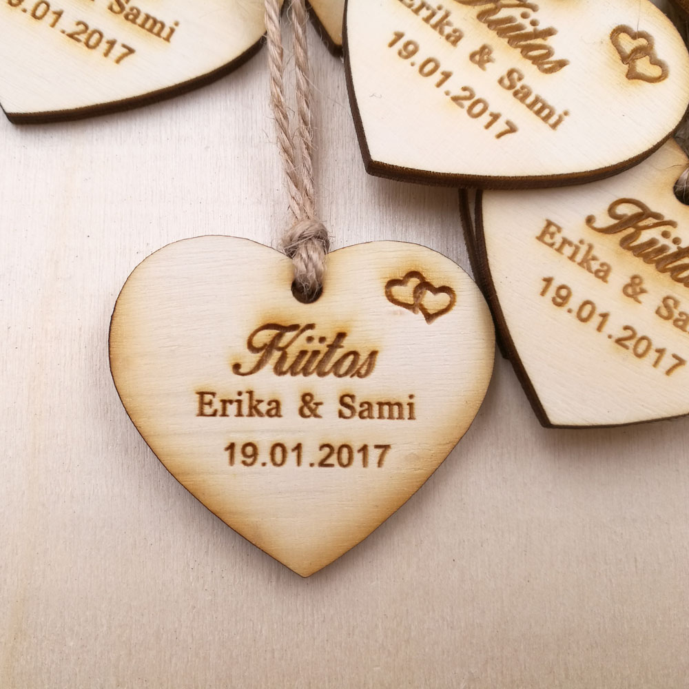 Custom save the date Wooden Tags,Personalized wedding favor tags, rustic Bridal Shower Favor Tags wooden heart wedding tags