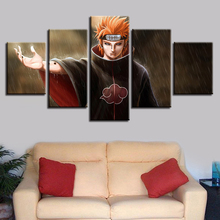 HD Canvas Living Room Home Decoration 5 Panel Naruto Character Printed Pictures Wall Art Modular Poster Modern Painting Frame
