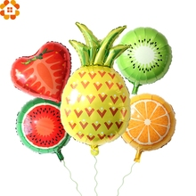 1PC Colorful Fruit Balloons Party Balloons Large Foil Balloon DIY Home Decor Kids Birthday/Wedding Party Decoration Kids Toys(China)