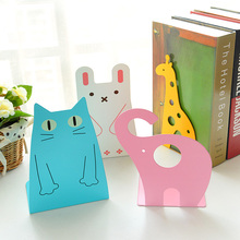 Creative Cute Animal Decorative Bookends Metal Book Ends Desktop Book Holder Stand For Books(China)