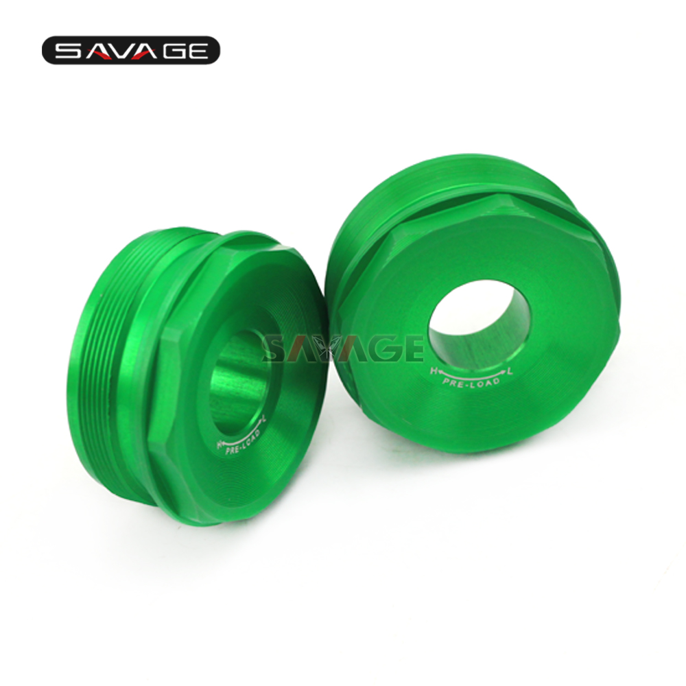 Front Fork Bolts Cover For KAWASAKI ZX-10R NINJA ZX10R 2016-2017 Motorcycle Accessories Aluminum Decorative Cap <br>