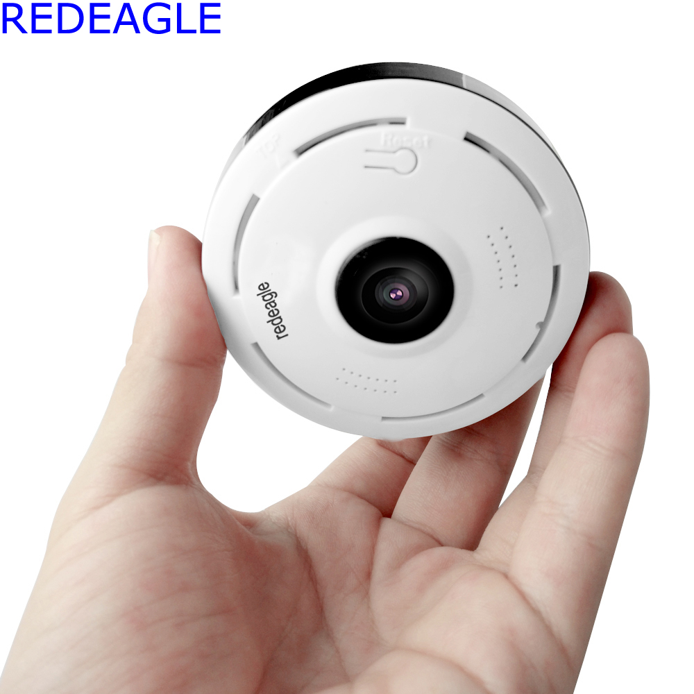 REDEAGLE 2MP HD FishEye IP camera 1080P 360 degree Full View Mini CCTV Network Home Security WiFi 3D VR Panoramic Cameras<br>