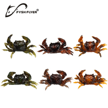 5pcs Lifelike Artificial Soft Fishing Lures Crab Bait With Sharp Hooks, Fishing Tackle Accessory Tool, Free shipping CR80(China)