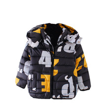 Baby boys Winter Hoodies 2017 Coat Kids warm outwear child Thicken Parkas Jacket Christmas Warm Clothing 2 years cartoon clothes(China)