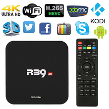 Docooler R39 Smart Android 6.0 TV Box RK3229 Quad Core KODI 16.1 XBMC UHD 4K TV Boxes 1G /8G Mini PC WiFi H.265 HD Media Player(China)