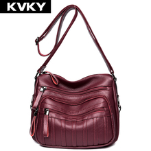 Buy KVKY Brand Fashion Women Shoulder Bags PU Leather Women Handbags Ladies Crossbody Bags Female Single Messenger Bags Bolsos for $21.59 in AliExpress store