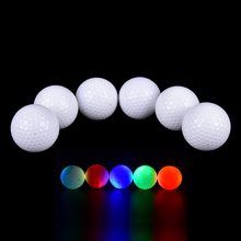 1Pc Light-up Color Flashing Glowing LED Electronic Golf Ball For Night Golfing Gift Drop shipping(China)