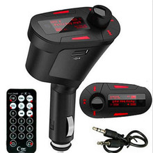 Car MP3 Player Wireless FM Transmitter Radio Modulator with USB SD Remote Control LED Screen Red/Blue/Green