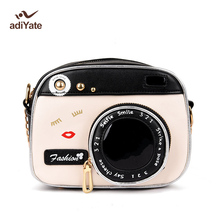 ADIYATE 2017 Fashion Camera Shape Shoulder Bag Personality Camera Modeling Bag Women Messenger Chain Bag Cheap Women Handbags